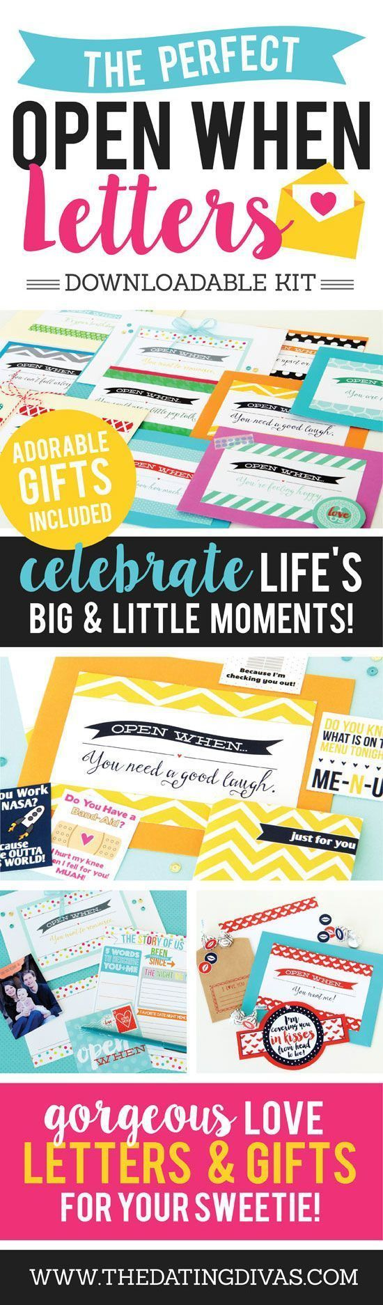 OPEN WHEN LETTERS! Perfect kit of love letters for the hubby or boyfriend!   birthdaydiy