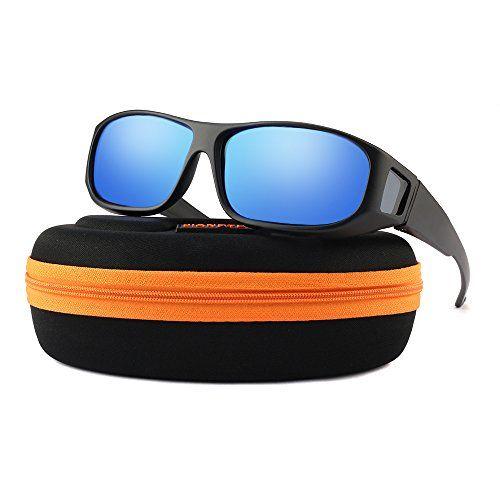 213be9c9b35 Oversized Lens Cover Sunglasses Mirrored - Warp Around Polarized Lens for Men  Women