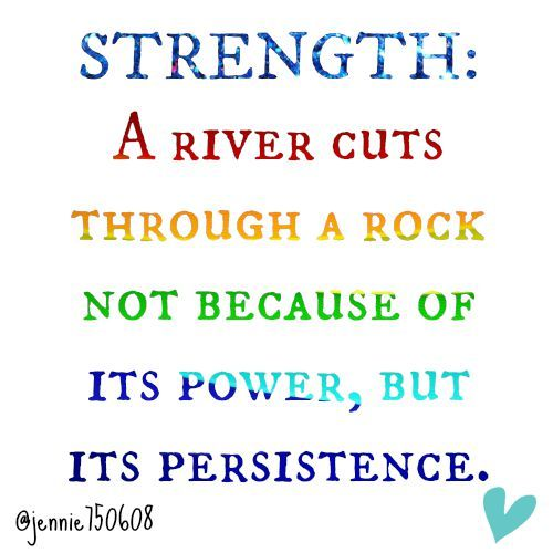 Your Strength Comes From Your Persistence Keep Moving Forward
