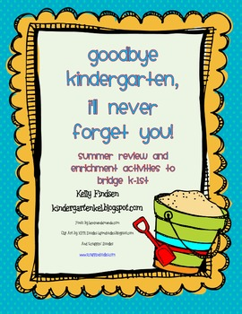 Goodbye Kindergarten Summer Bridging Activities Kindergarten Summer Kindergarten Addition Flashcards