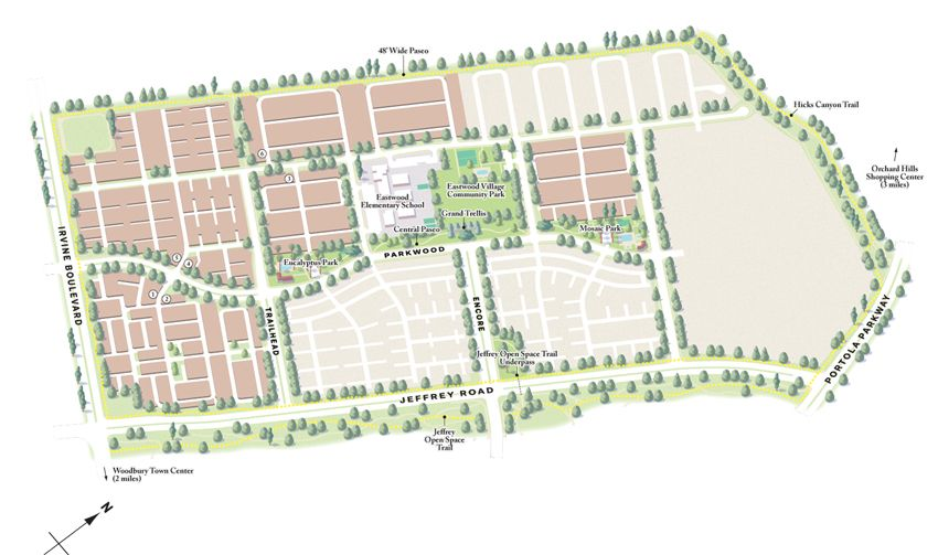 Villages of Irvine maps (California, US) on Behance | Irvine ...