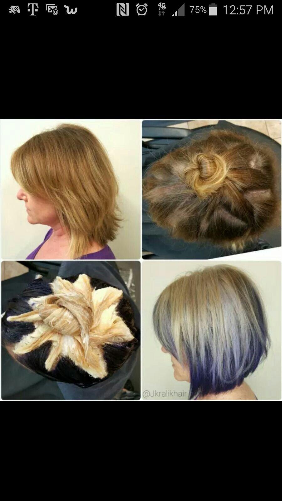 Hair Color Peekaboo Hair Hair Color Techniques Pinwheel Hair Color