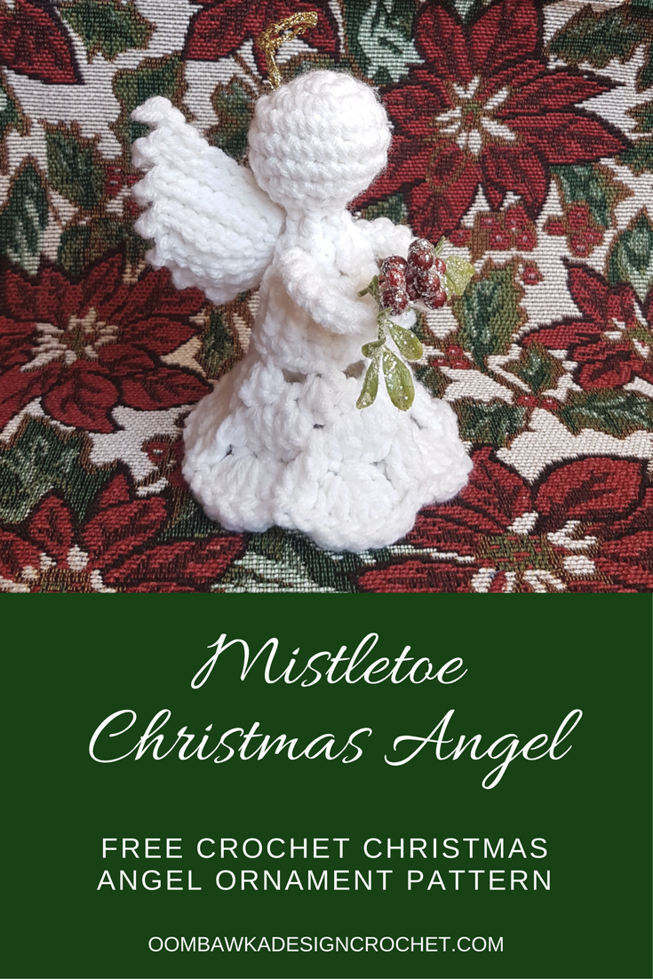 Mistletoe Christmas Angel Ornament Pattern   Me gustas