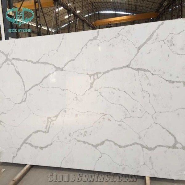 Statuario White Quartz Stone Slab