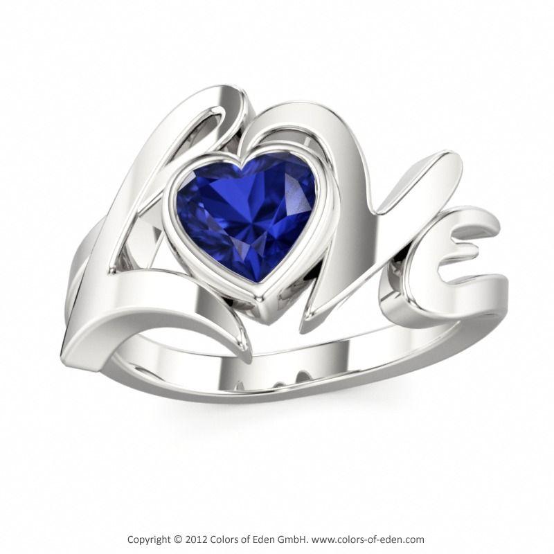 Colors of Eden   Designer Ring LOVE  