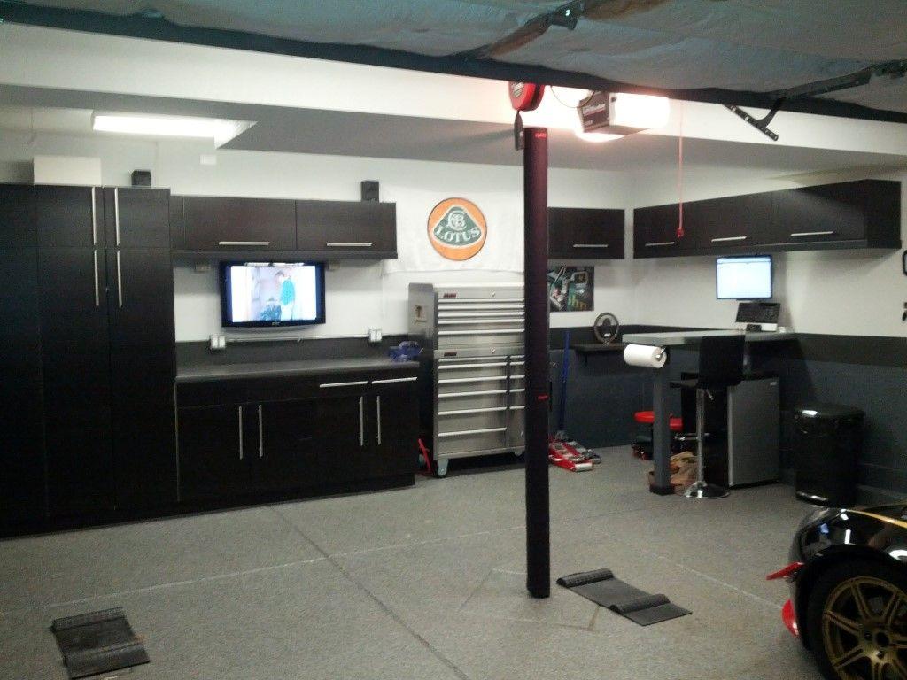 Nice Storage Garage Design Finished Garage Garage Interior