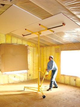 How To Install Drywall Ceilings Drywall Installation Drywall Ceiling Drywall Lift