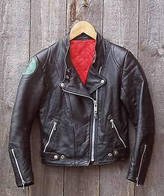 09385fd3e8 Vtg Manx Leathers Ladies Motorcycle Jacket Size XSmall Biker Rocker Cafe  Racer