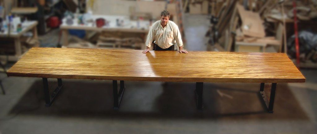 20 Foot Table For A Vineyard Www Ancientwood Com Wood Slab Table Dining Table Slab Table