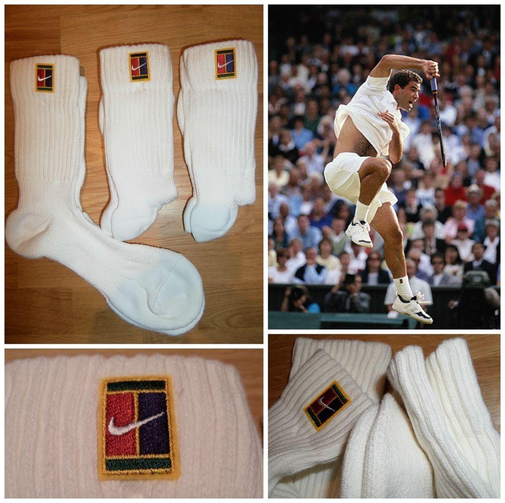 Vtg 90s Nike Supreme Court Sampras Tennis Crew Socks 3 Pair Retro Men S Og New Nike Sportssocks Vintage Sportswear Retro Men Adidas Sportswear