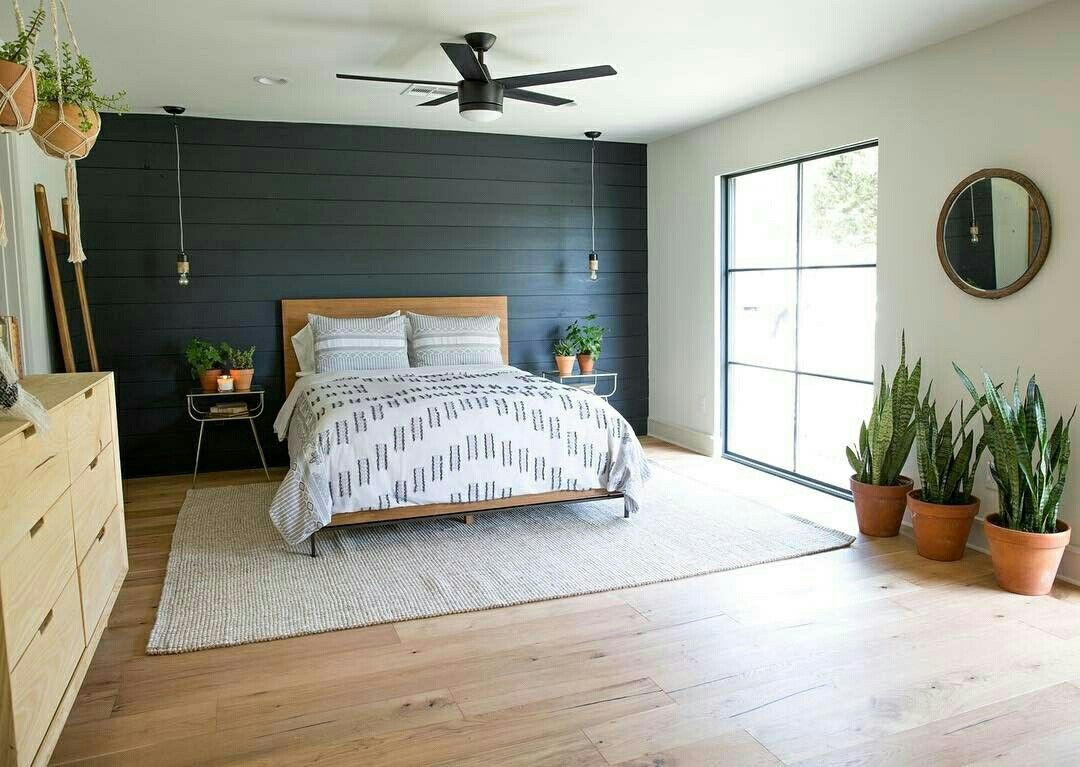 Ship Lap Painted Hale Navy Behind The Bed Then A Rogue Goat Commission Remodel Bedroom Shiplap Bedroom Bedroom Wall