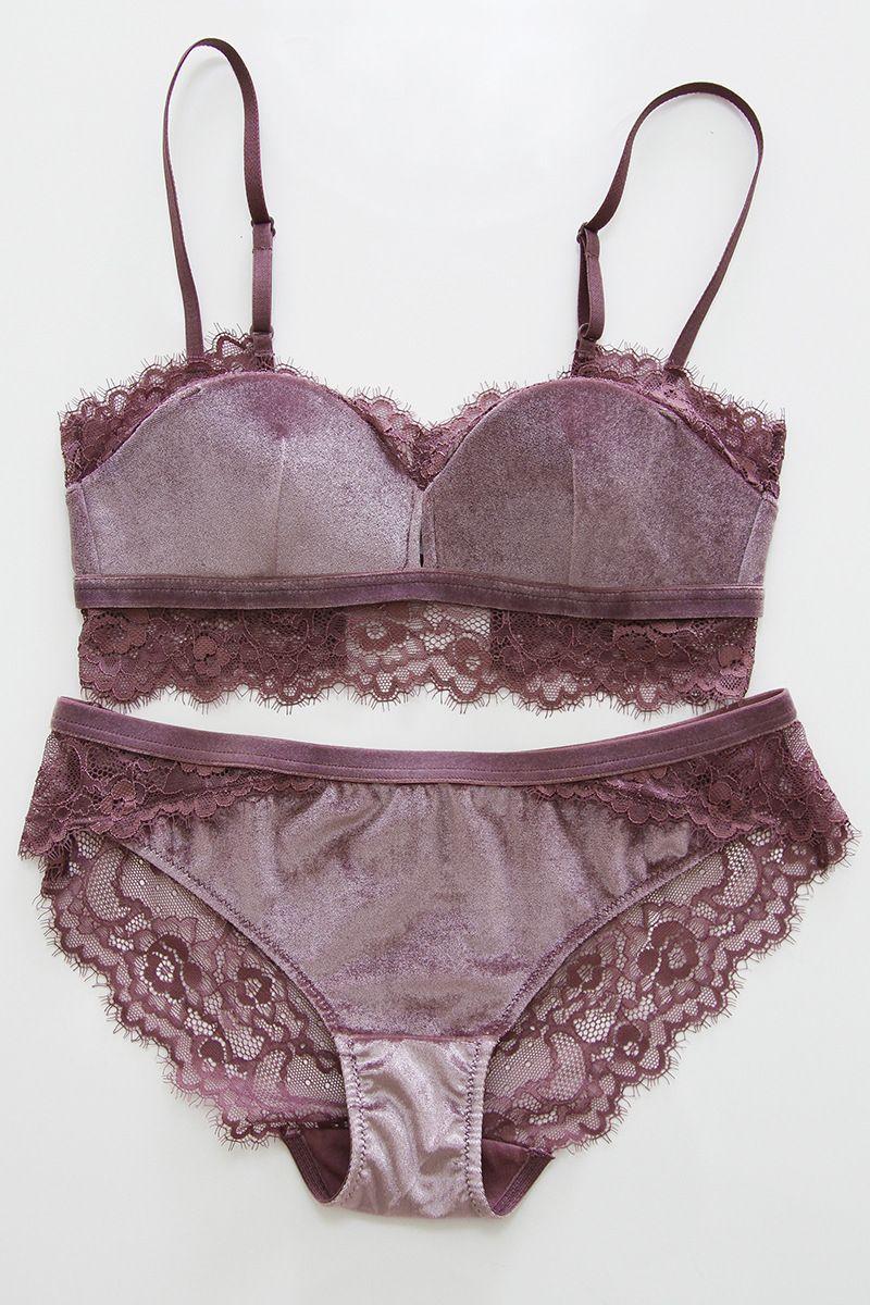 cf23d8c0e5f 2018 New Fashion Women Velvet Bra Underwear Straps Bralette Panties Soft  Trim Bra Sets Wire Free Push Up Bra Set BK102-in Bra   Brief Sets from  Women s ...