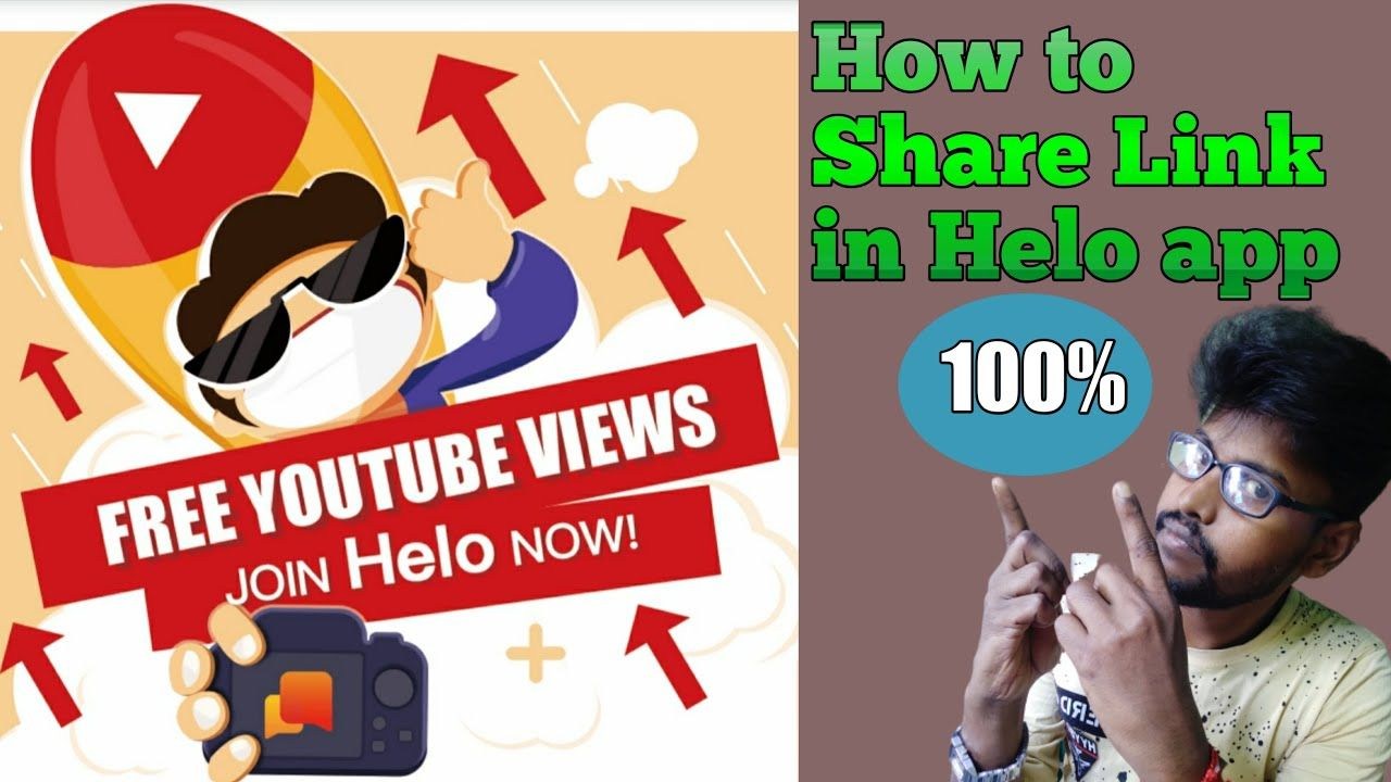 Free Promote Your Youtube Channel How To Share Link In Helo App Helo Youtube Video Link You Youtube Helo App