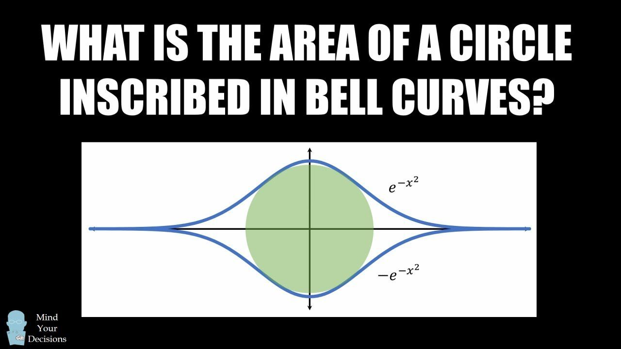 What Is The Area Of A Circle Inscribed In Bell Curves Calculus Puzzle Calculus Bell Curve Math