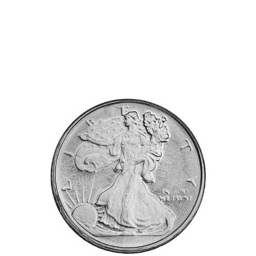 1 10 Oz Hm Walking Liberty Silver Round New Silver Rounds Silver Round