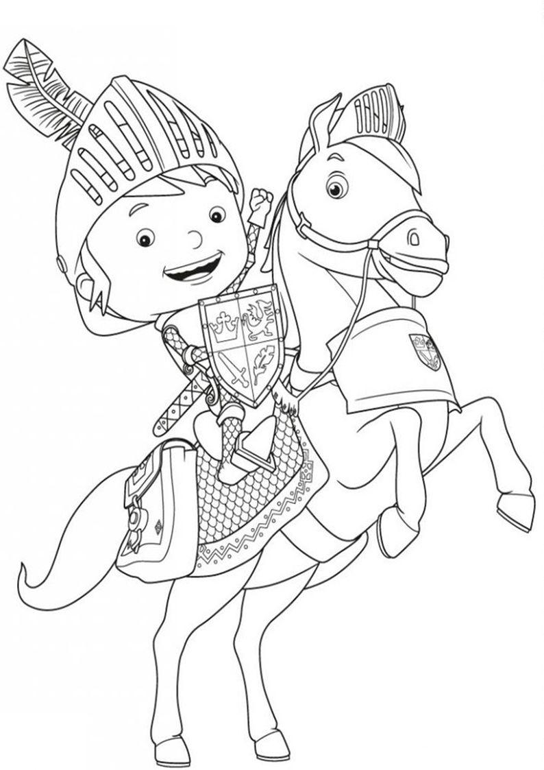 Kolorowanka Rycerz Mike Malowanka Dla Dzieci Nr 7 Mike The Knight Nick Jr Coloring Pages Coloring Pages