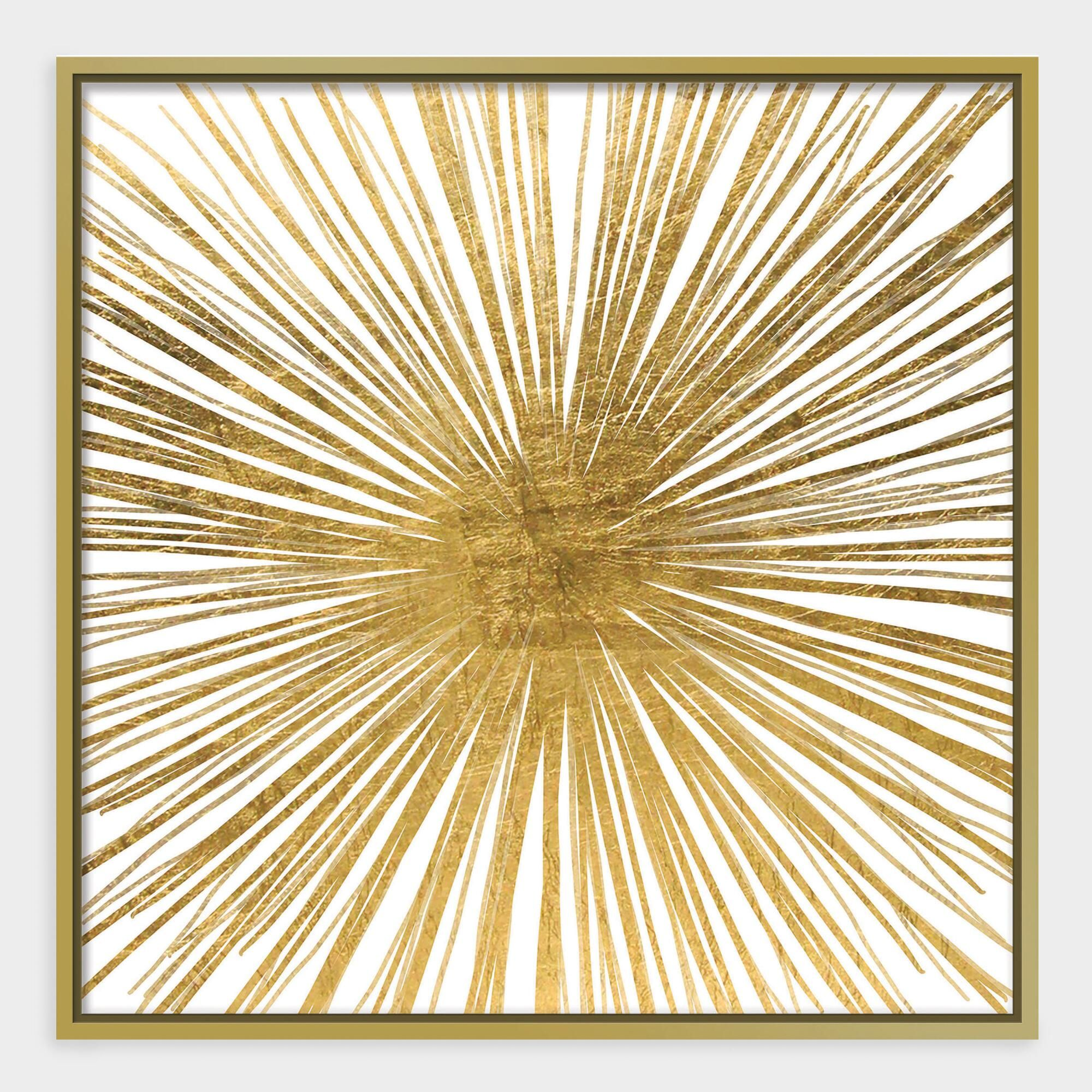 Golden Ray Wall Art In Gold Frame Canvas By World Market Gold Wall Art Framed Canvas Wall Art Gold Walls