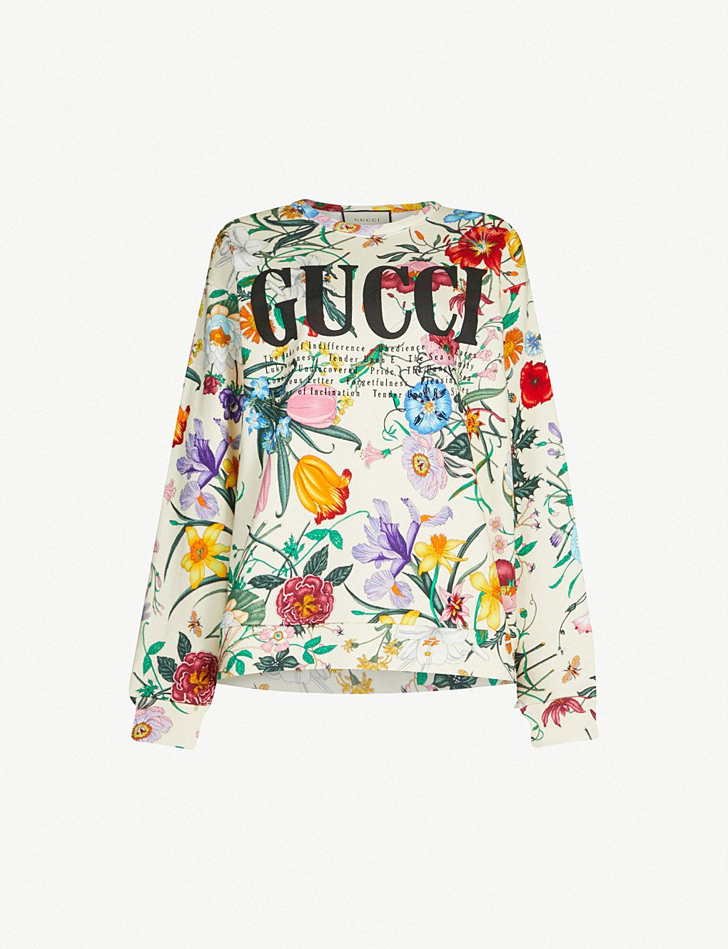 2e72416fdd08 GUCCI Floral-print cotton-jersey sweatshirt in 2019 | Graphic ...