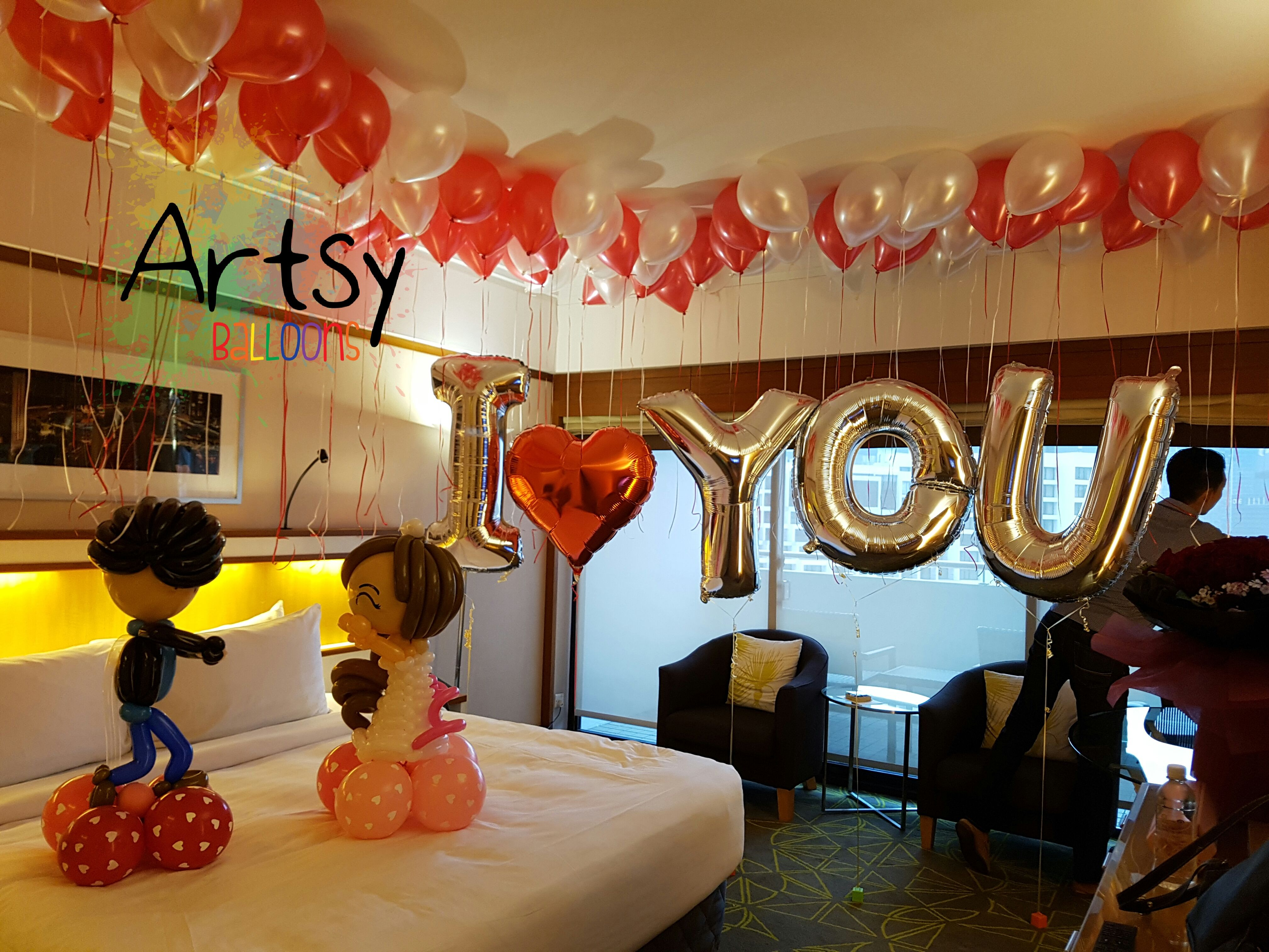 wedding reception photo booth singapore%0A Sweet balloon proposal with balloons