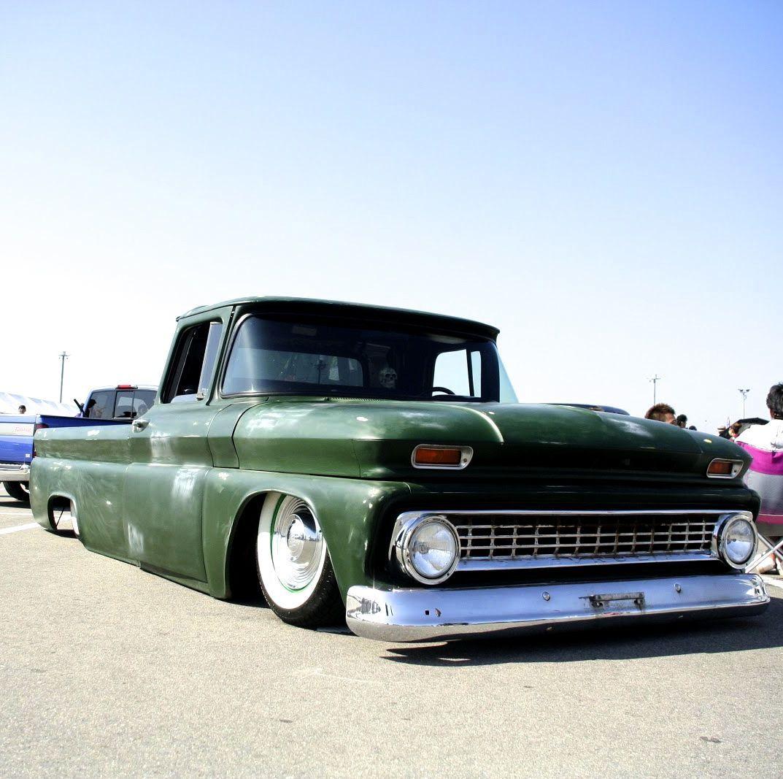 All Chevy 63 chevy c10 : Slammed Green Chevrolet C10 Truck | Cars & Motorcycles | Pinterest ...