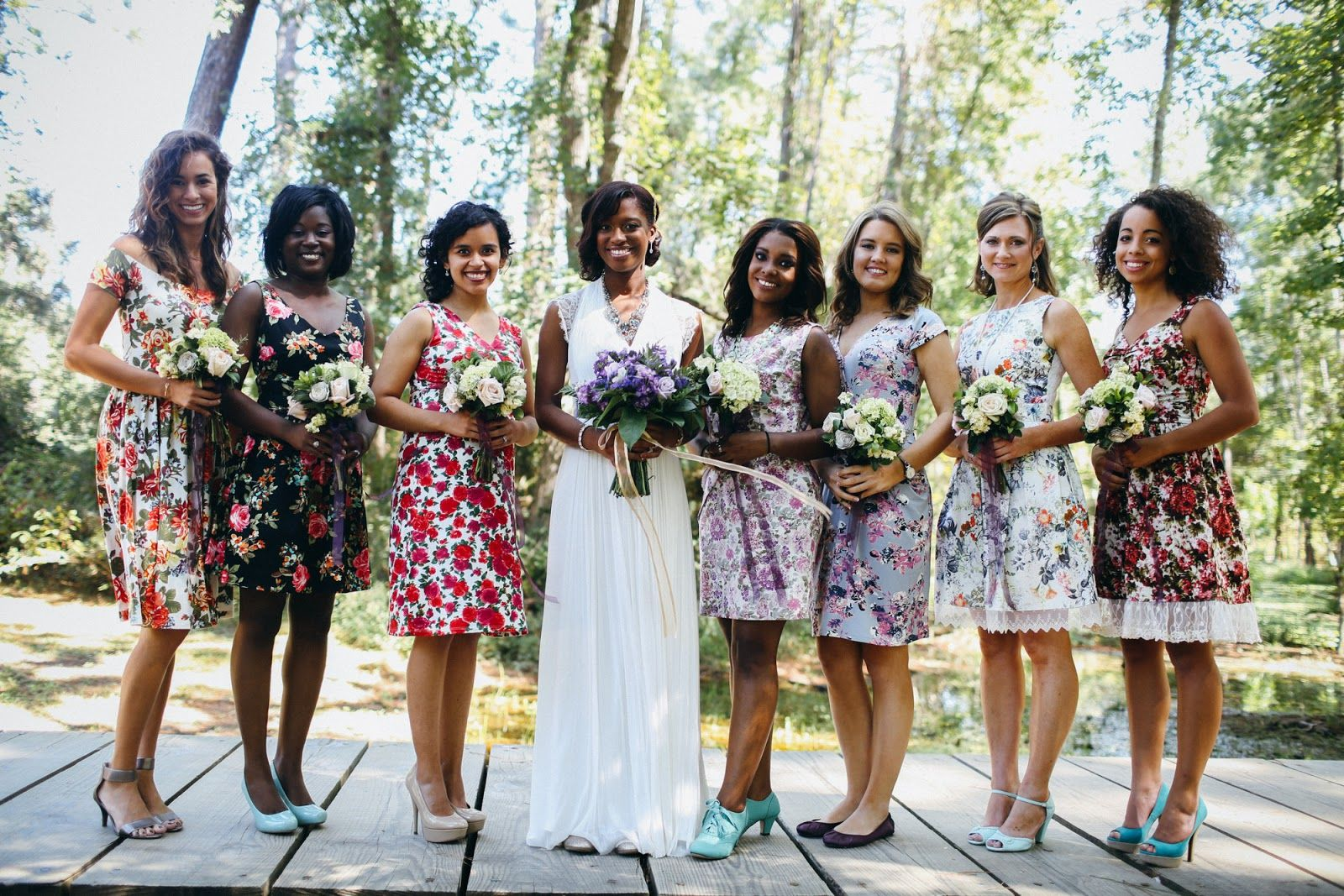 Bhldn wedding dress assorted floral bridesmaids dresses bhldn wedding dress assorted floral bridesmaids dresses ombrellifo Image collections