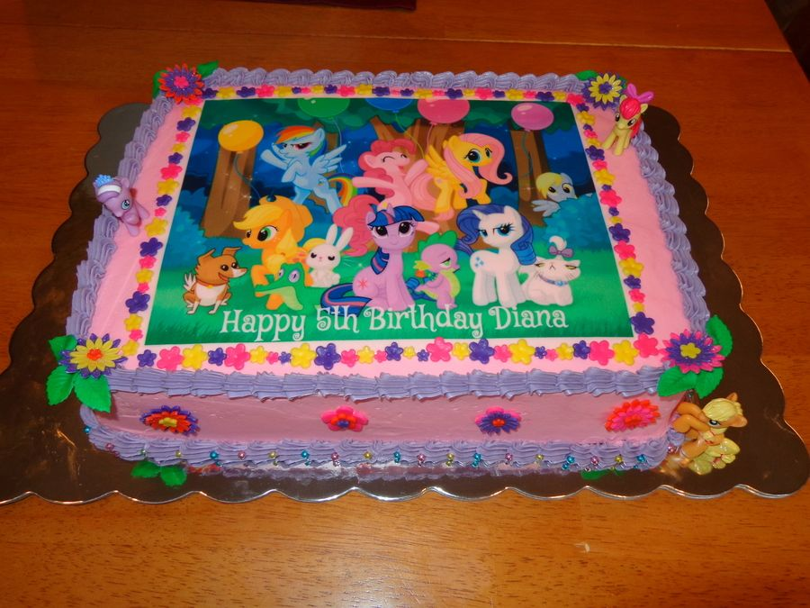 My Little Pony Cake For My Daughters Birthday White Sour Cream