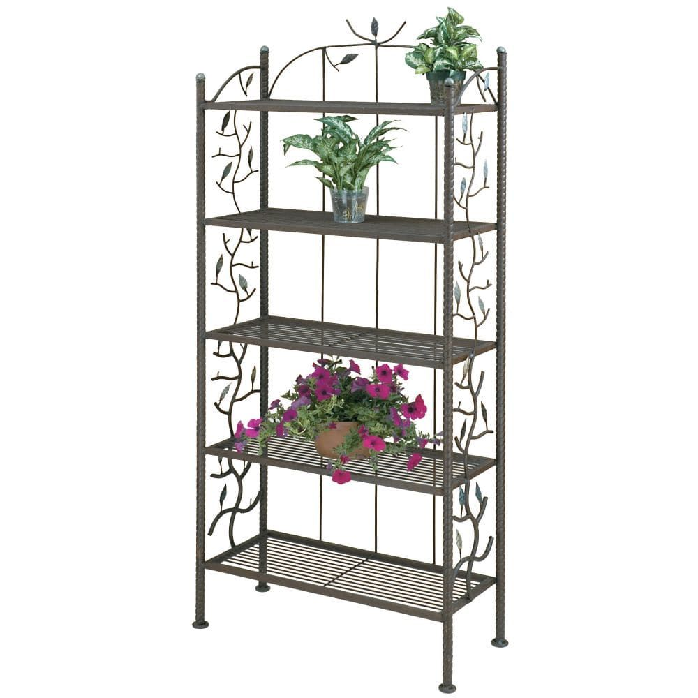 Deer Park Ironworks Vine And Leaf Patio Bakers Rack