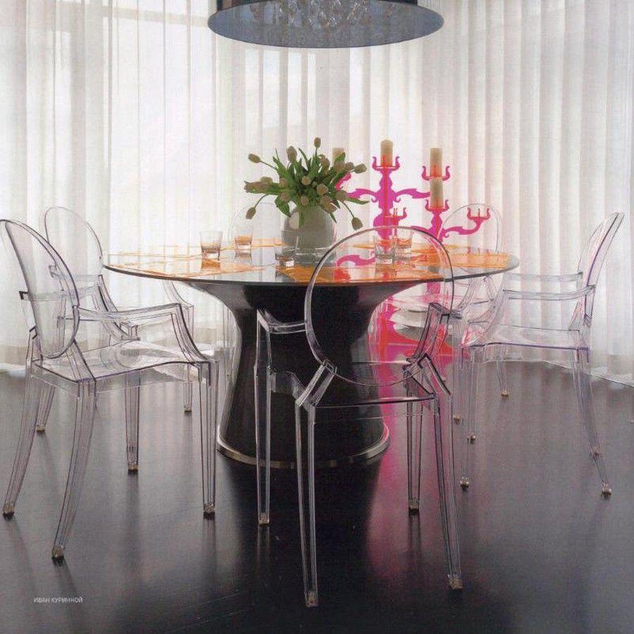 Kartell Stuhl Louis Ghost Glasklar Schoner Wohnen Shop Der Raffinierte Stuhl Entworfen Von Stardesigner Ph Schoner Wohnen Haus Deko Esszimmer Inspiration