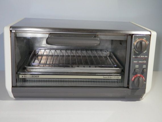 Black Decker Toast R Oven Vintage 1990s Bake Toaster By 2lewa Retro Kitchen Decor Black Decker Retro Kitchen