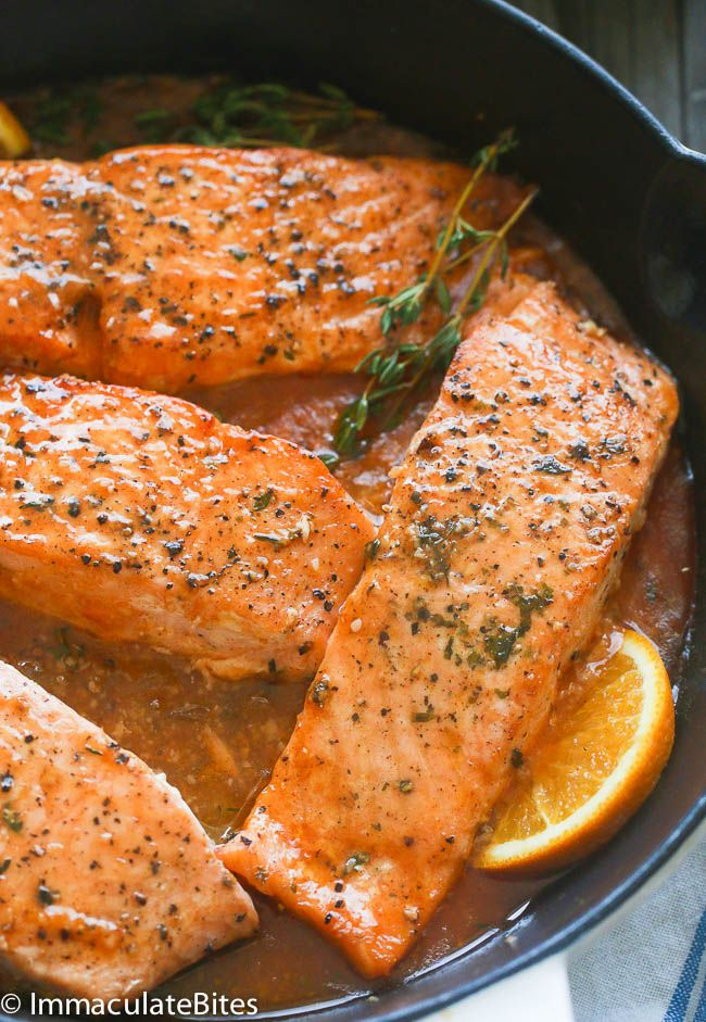 Citrus And Thyme Glazed Salmon Recipe Cooking Salmon Salmon Recipes Salmon Fish Recipe