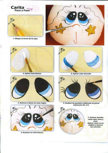 Dibujos y plantillas para imprimir pintado ojos de for Como pintar un ojo