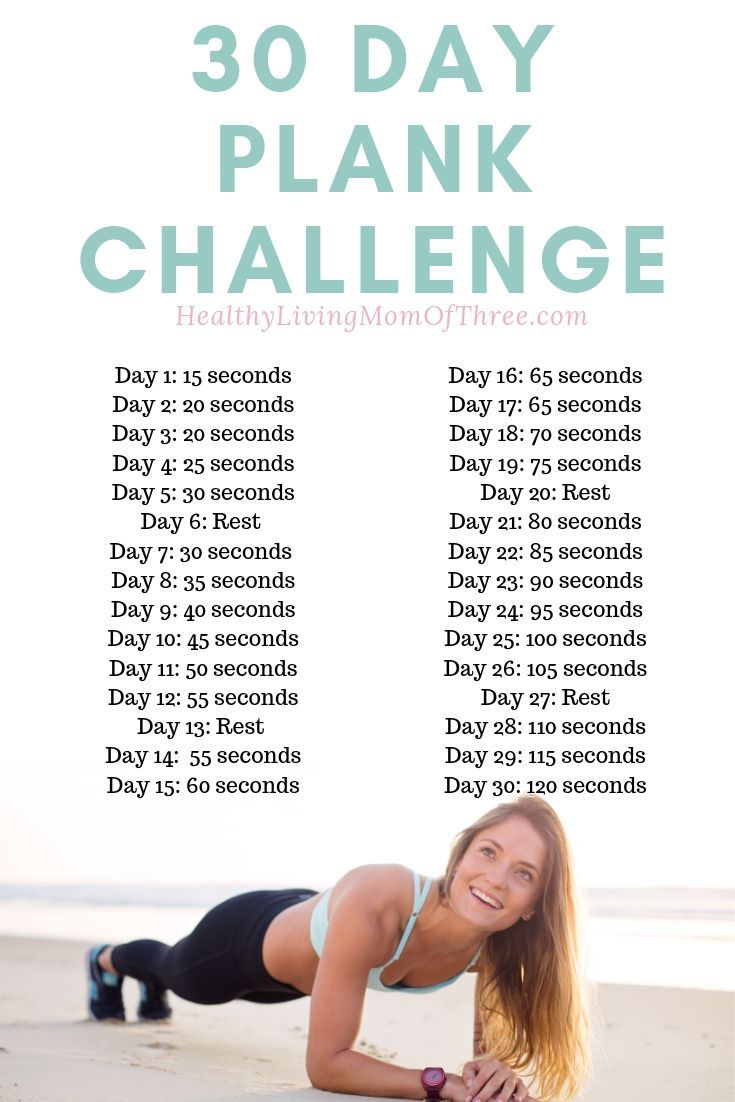 30 Day Plank Challenge For Beginners - Healthy Living Mom Of Three