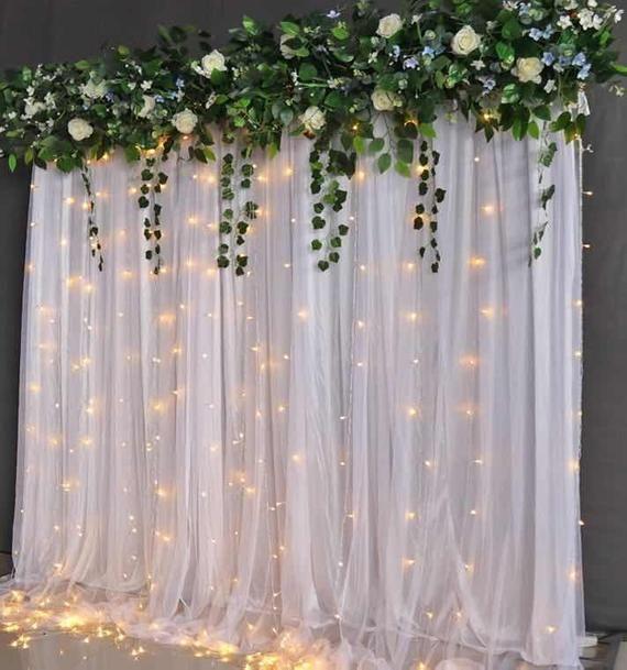 White Tulle Backdrop Curtains Chiffon Backdrops Ph