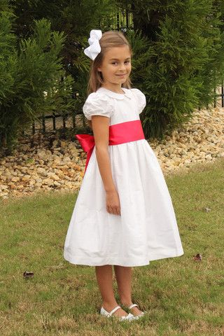White Silk Strasburg Children Heirloom Dress All Dressed Up For