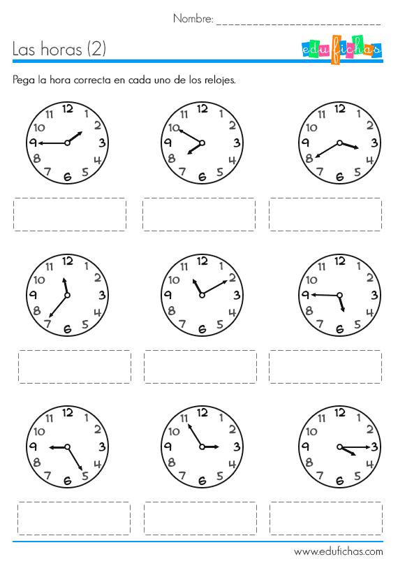 Hojas De Trabajo Para Descargar Con Actividades Del Reloj Ejercicios Sencillos Para Aprender Actividades Del Reloj Aprender La Hora Actividades Para Primaria