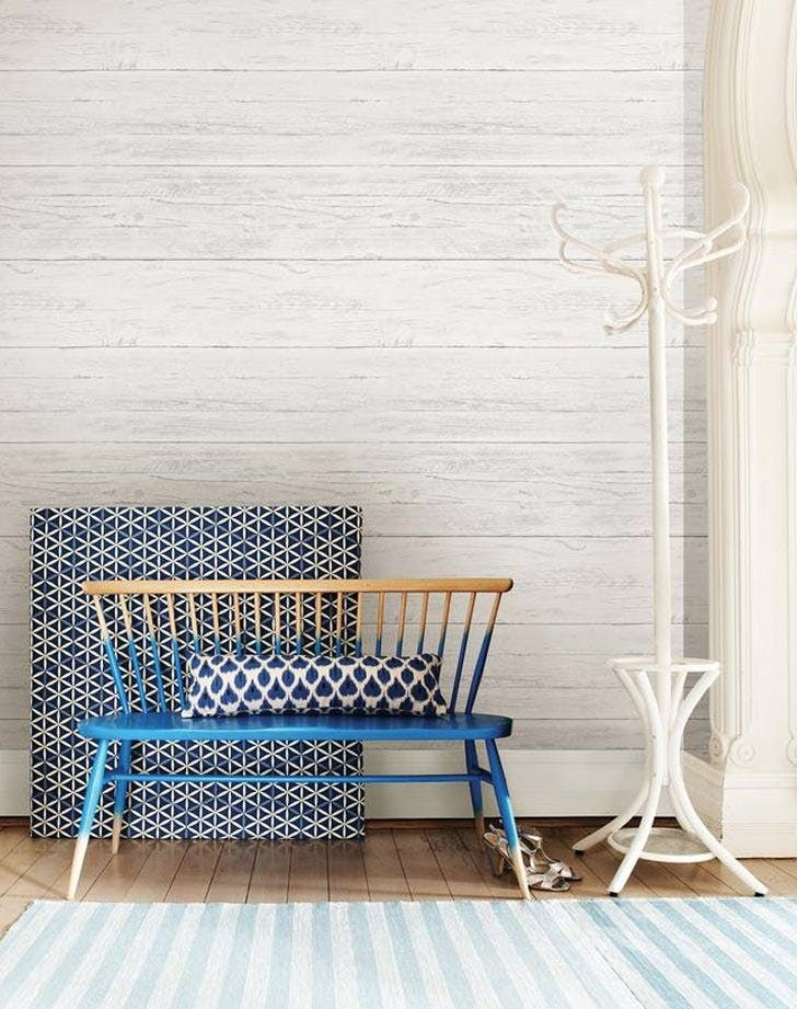 7 Chic Things To Buy From Home Depot No Tile Paint Or Roofing Included Home Depot Wallpaper Wallpaper House Design Wood Plank Wallpaper