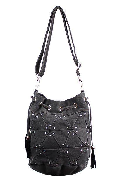 Bling Denim Crossbody Purse Black   cross western handbags ... 9e6db88578