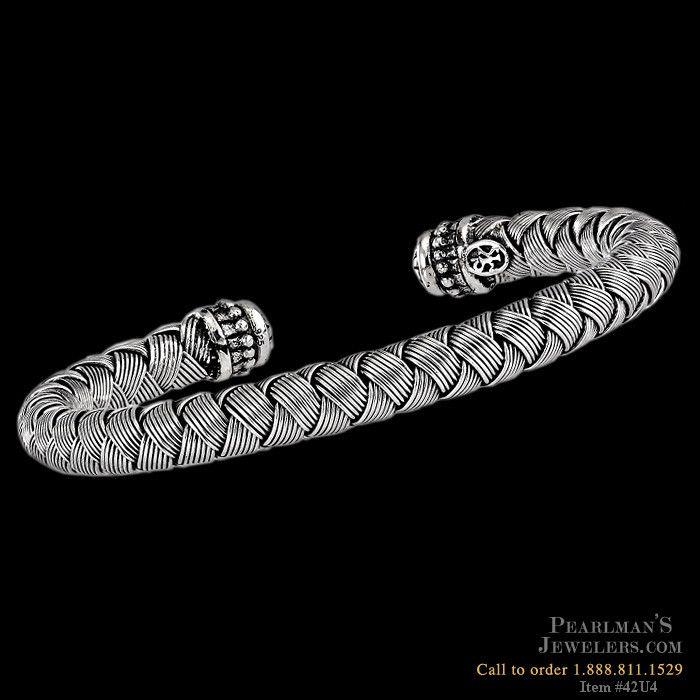 Scott Kay for Men sterling silver mens cuff bracelet from Pearlman's Jewelers