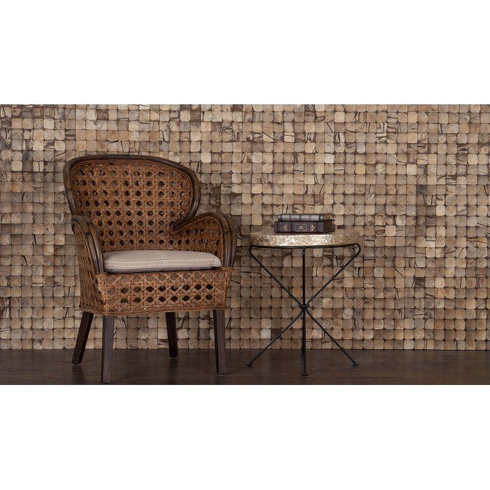 "Kelapa 15.75"" x 15.75"" Coconut Shell Mosaic Tile in Grand Desert Bliss"