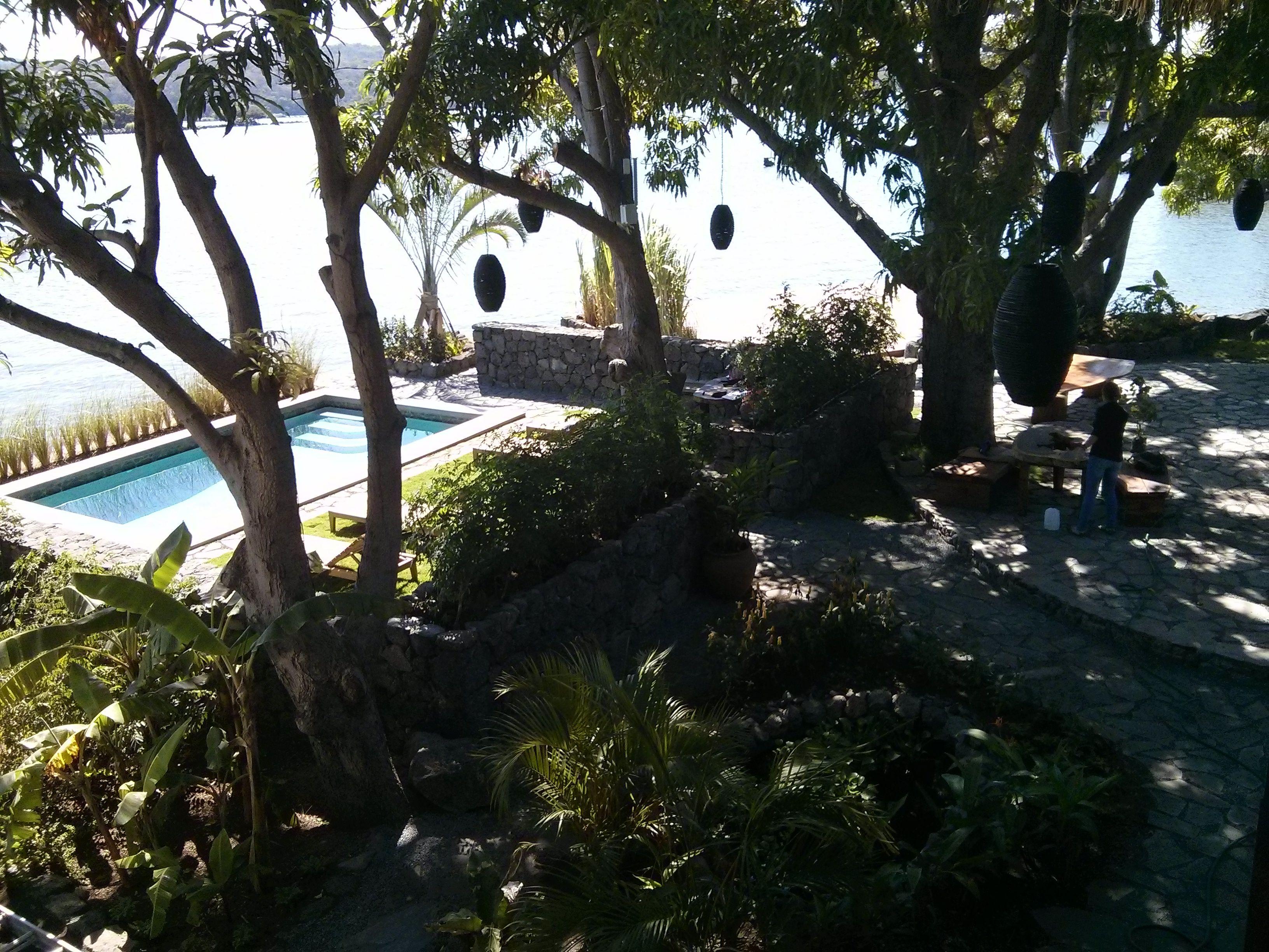 Gardens to pool area.