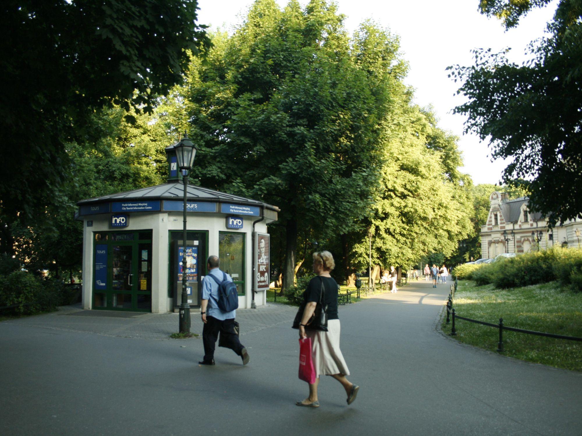 Tourist Information Spots in Krakow, Poland