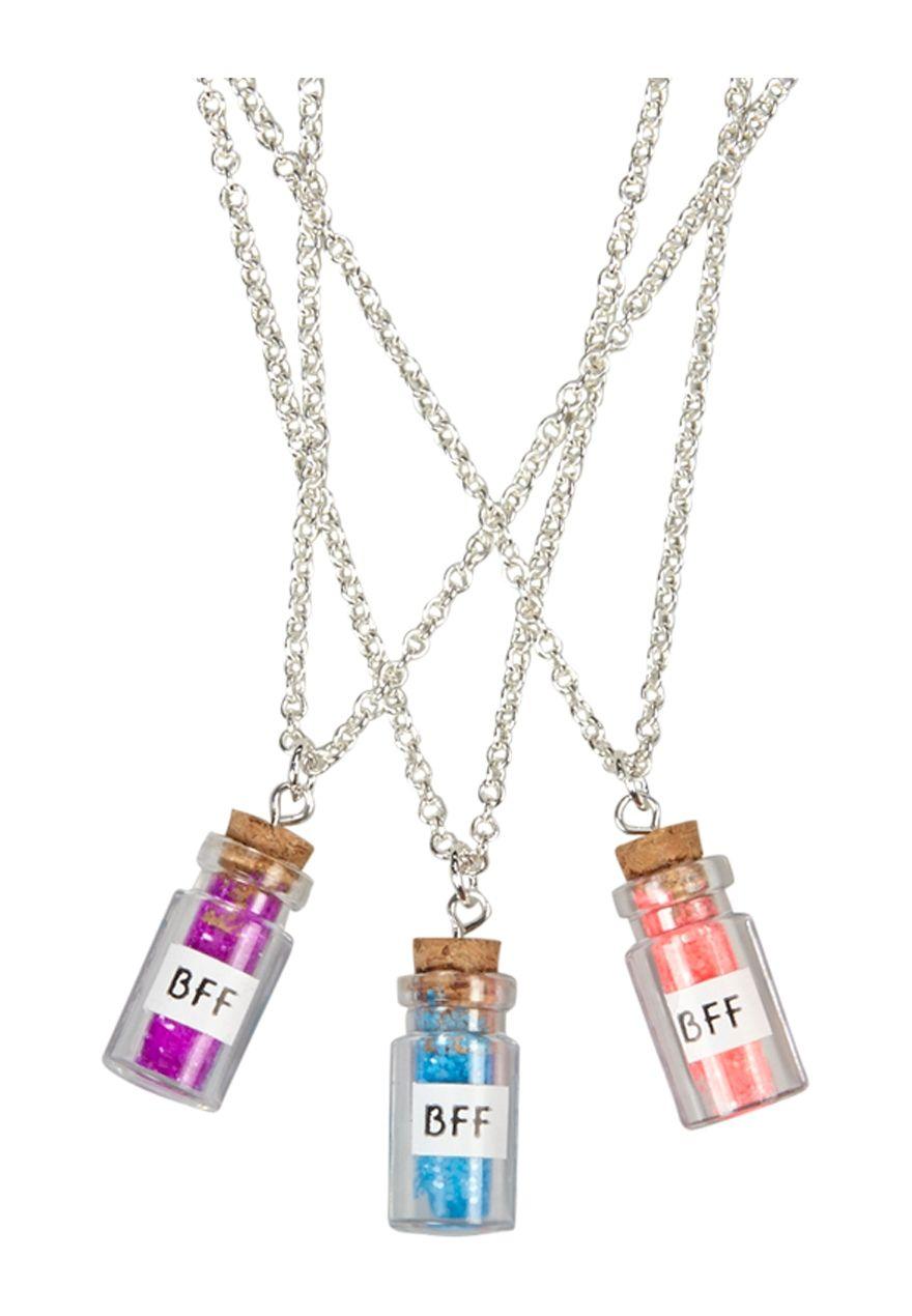 979309043c4f BFF Glitter Bottle Necklaces
