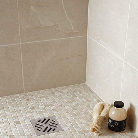 Carrelage Salle de bain mural Colysée ARTENS en faïence, gris, 30 x