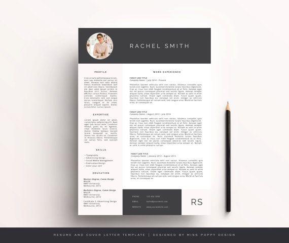 Creative Resume Design Prefessional Resume Template Instant