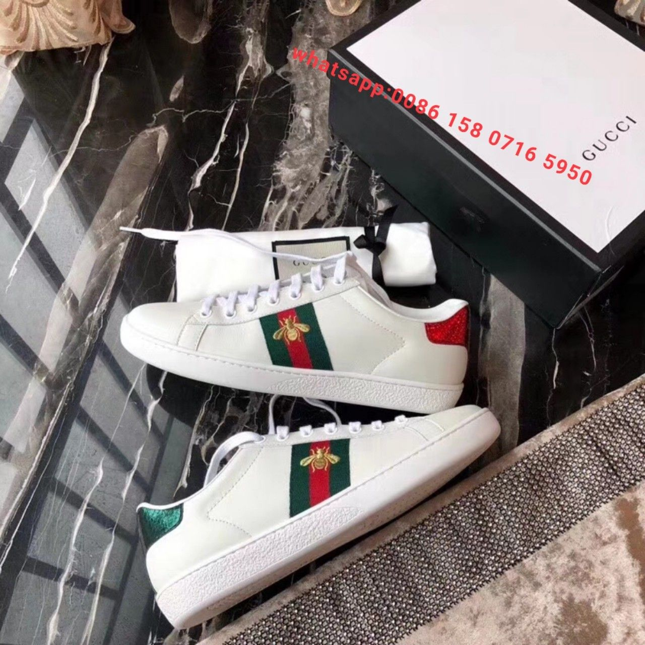 gucci sneakers white bee shoes original