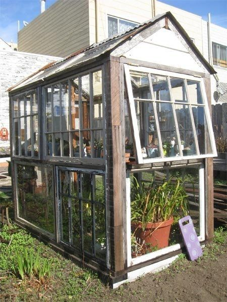 Simple Greenhouse And Storage From Old Windows Via
