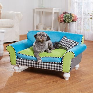 @Overstock   Mackenzie Checkerboard Furniture Pet Bed   Enchanted Home Pet  Furniture Eases Your Pet