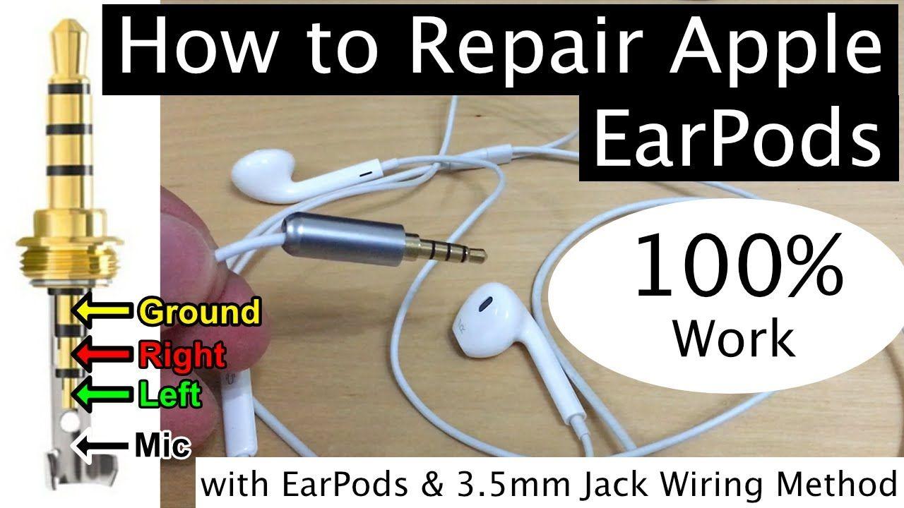 Repair Iphone Earpods Earphone Replacing Jack 100 Work With Apple Earpods 3 5mm Jack Wiring Method Earphone Repair Iphone