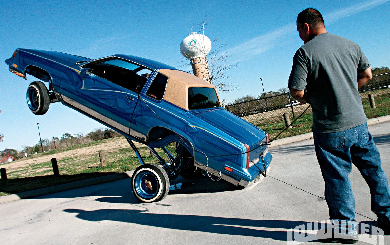 Blue 1987 Oldsmobile Cutlass Lowrider Hopping Picture HD ...