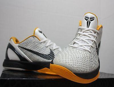 Nike Zoom Kobe VI 6 Del Sol Size 11.5 - White Black Grey Yellow - 429659 103